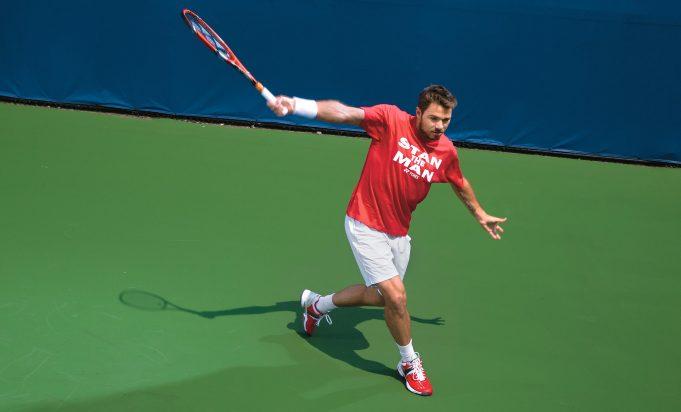 Stan Wawrinka hitting a ball with a racket